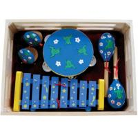 Kawai Pattern Wood Toy With Wooden Box Outfit Four Pcs Simple Percussion Toy Manufactures