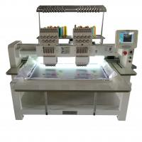 China Cap Automatic Double Head Embroidery Machine , T Shirt Embroidery Machine on sale