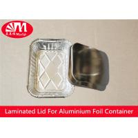 Rectangle Foil Tray Lids Aluminium Coated Laminated Paper Board Material