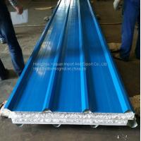 Polystyrene Sandwich Panel Waterproof Exterior Wall and Roof  PPGI Steel EPS Sandwich Panel Manufactures