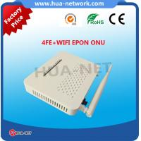 Buy cheap 2017 hottest 4 FE WIFI EPON ONU HZW-E804-W with factory price from wholesalers