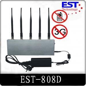 5 Antenna 33dBm Cell Phone Signal Jammer / Blocker EST-808D For Custom Manufactures