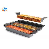 3 Division Non Sticker Pullman Loaf Pan , Lasagna Baking Pan Meat Loaf Pan With Insert Manufactures