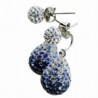 Crystal Drop Earring, Available in Various Colors and Sizes Manufactures