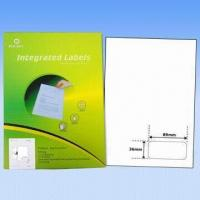 Adhesive Integrated Labels, Used as Invoice Label, Made of 70-90g Vellum Paper, Customized Sizes Manufactures