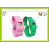 Promotion Gift Green / Pink Silicone Strap Watches With Custom Printed Logo Manufactures