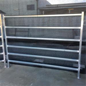 China 6 Bar Livestock Cattle Yard Panels Heavy Duty Tube Sliding Cattle Gate on sale