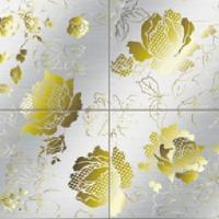 Yellow Flower Etched Stainless Steel Sheet (304) Manufactures