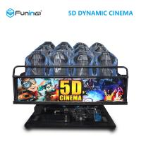 Interactive Game 5D Theater Equipment Computer Software Control 12 Special Effects Manufactures