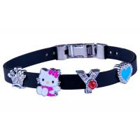 Cute Adjustable Silicone Bracelet Personalized For Youth With Metal Clasp Manufactures