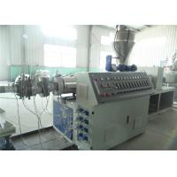 Low Noise PE Plastic Pipe Extrusion Line With Saw Blade Cutting Manufactures