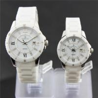 Ceramic couple wrist watches , sapphire glass / luxury Manufactures