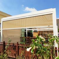 Windproof Sun Shading Zip Track Blinds for Pergola Canopy Restaurant Balcony Manufactures