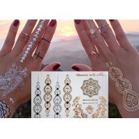 Jewelry Inspired Metallic Body Tattoo Stickers Hand Bracelets Designs Manufactures