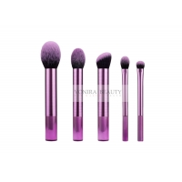 China Luxurious Micro Fiber 5 Pieces Synthetic Makeup Brushes Foundation Makeup Brush Set on sale