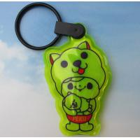 China Reflective PVC Keyring with LED, Reflective Keychain with Light on sale