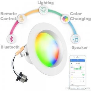 Residential Bluetooth Led Downlights AC100~130V 9W 60Hz 2700K/6500K Manufactures