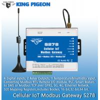 S278 Cellular IoT Modbus Gateway(4DIN,2Relay,1TH,USB,RJ45,RS485,320 Mapping Registers) Manufactures