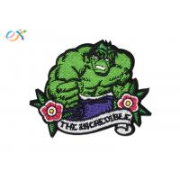 China Hulk Superhero Iron On Embroidered Patches Polyester Fabric For Clothing Decorative on sale