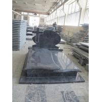 Bahama Blue Granite Headstones , Vizag Blue Granite Cemetery Cross Monuments Manufactures