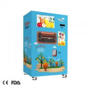 airport yellow red orange juice extractor vending machine fruit juice vending machine