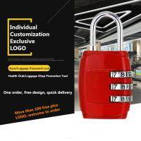 Quality Small Multi Colored Luggage Combination Padlock Custom Logo Available for sale