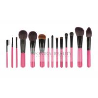 14 PCS Pink Deluxe CosmeticMakeup Brush Collection With Exquisite Nature Bristles Manufactures