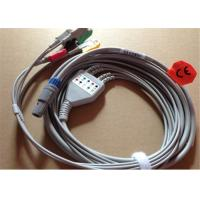 Petas 4 Lead ECG Patient Cable With 6 Pin Grabber / Pinch 0.7lb Weight Manufactures