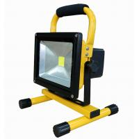 Yellow / Black Rechargeable Aluminum Portable Flood lights With DC12v 20W Manufactures