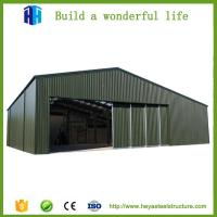 China prefab small metal roof warehouse steel structure godown design on sale