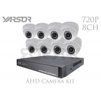 Quality 720P Indoor 1.0MP 8 Channel CCTV Camera Kit / AHD CCTV Kit For Shopping Mall for sale