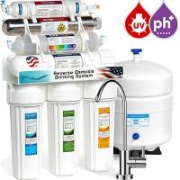 CE certificate household pre-filtration 7 stages undersink with UV lamp PH 8.5 ro water filter Manufactures