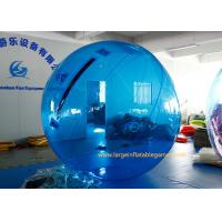 Blue Durablem Giant Inflatable Water Walking Ball Waterproof For Water Walking With CE Manufactures
