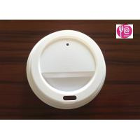 7oz 75mm Disposable Plastic Lids PS Material for White Coffee Cup Manufactures