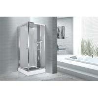 Square 900 X 900 Bathroom Shower Cabins White ABS Tray Chrome Profiles Manufactures