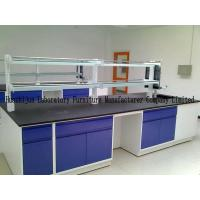 Movable Lab Island Bench 1.0mm Steel Material With Emergency Eyewasher Manufactures