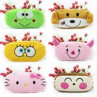 Stationery Animal Plush Pencil Case Animal Zipper Pencil Pouch For Promotion Gifts Manufactures