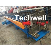 0-15m/Min Forming Speed Downpipe Machine, Rainspout Roll Forming Machine With Coil Thickness 0.4-0.6mm Manufactures