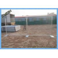 Hot Dipped Galvanized Site Security Temporary Mesh Fencing 2.4x2.1m Size AS 4687 Standard Manufactures