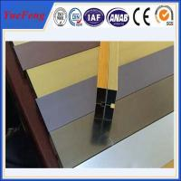 hot selling! extruded aluminum channel / aluminum glass channel OEM Manufactures