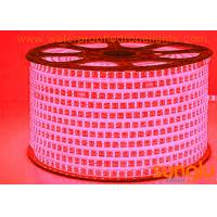 China Home Decoration AC LED Strip Lights , SMD2835 180D Double Rows Red LED Rope Lights on sale