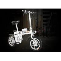 250 Watt Adult Electric Bicycle , Small Collapsible Electric Bike With One - Button Folding Manufactures