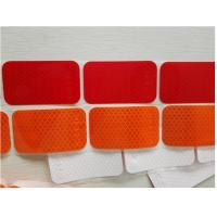 Segmented Reflective Conspicuity Tape , Solid Red Amber Reflective Sticker Custom Printed SAE Manufactures