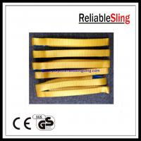 High strength Endless Webbing Sling , 100% Polyester lifting slings and straps Manufactures