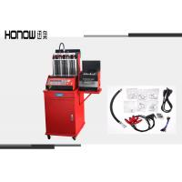 Red Fuel Injector Tester And Cleaner , Auto Gasoline Fuel Injector Cleaning Machine Manufactures