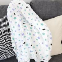 China Breathable 120*120 cm 100% cotton muslin swaddle for baby lightweight on sale