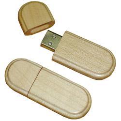 China Eco-friendly oval wooden USB sticks 2.0 flash memory 1GB 2GB 4GB 8GB 16GB 32GB with engraved  on sale
