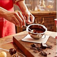 Hot sale Stainless steel 18/8 Chocolate Fondue Pot chocolate melting pot Manufactures