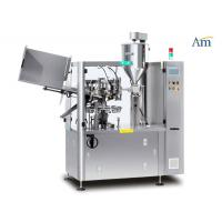 AC220V/380V 3P Automatic Tube Filler And Sealer , Ointment Filling And Sealing Machine Manufactures