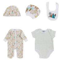 Green Romper Summer Newborn Baby Clothes Set , O - Neck Newborn Baby Grows Manufactures